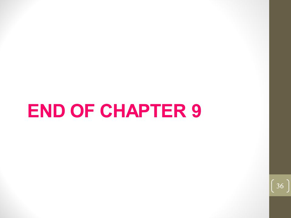 END OF CHAPTER 9 36