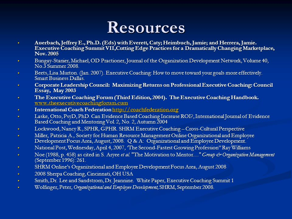 Resources Auerbach, Jeffrey E., Ph.D.