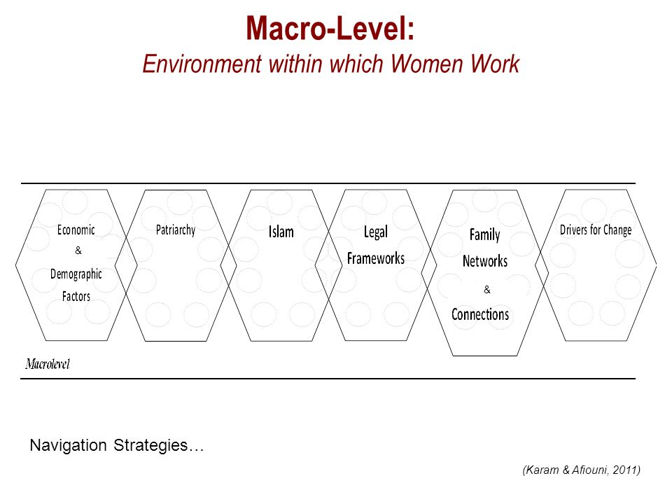 Macro-Level: Environment within which Women Work & & (Karam & Afiouni, 2011) Navigation Strategies…