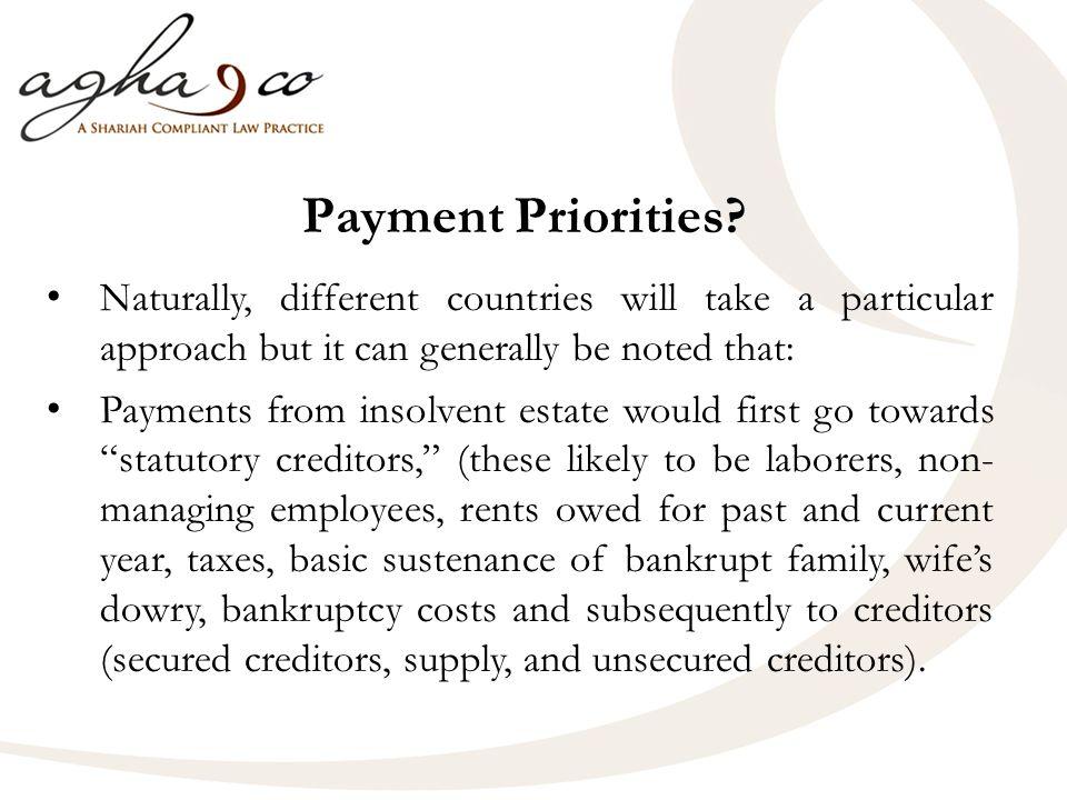 Payment Priorities.