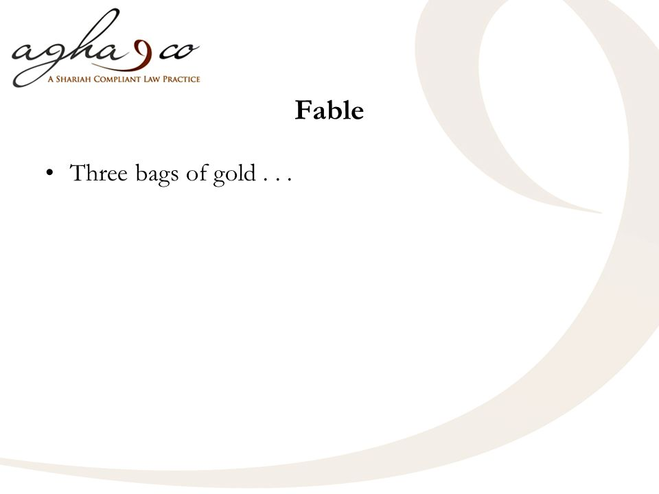 Fable Three bags of gold...