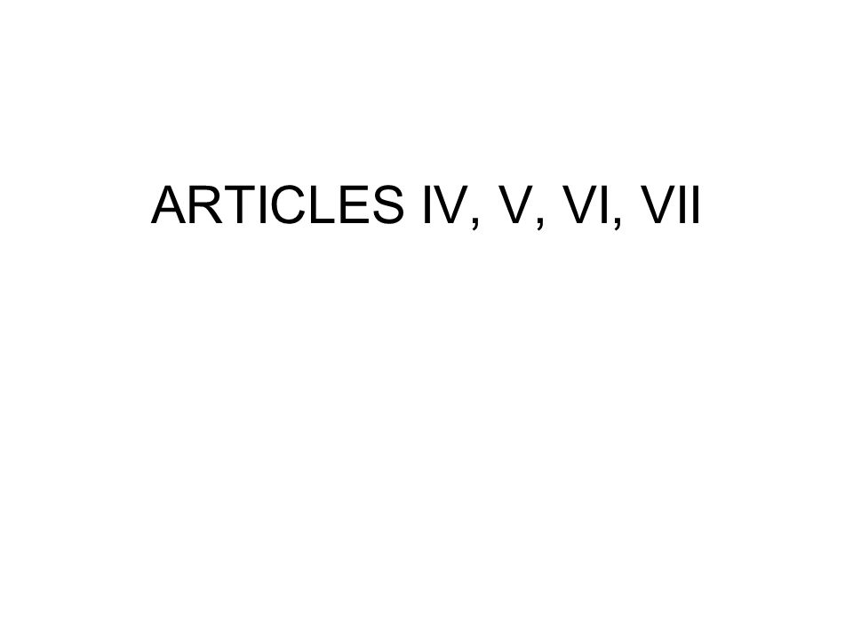 Article IV Relations Among the States