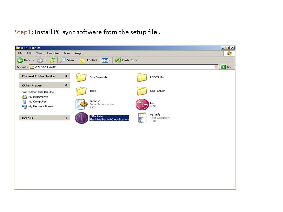 Step1: Install PC sync software from the setup file.