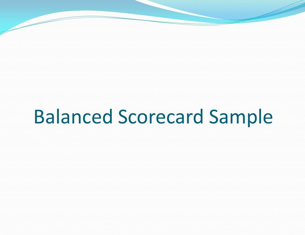 Balanced Scorecard Sample