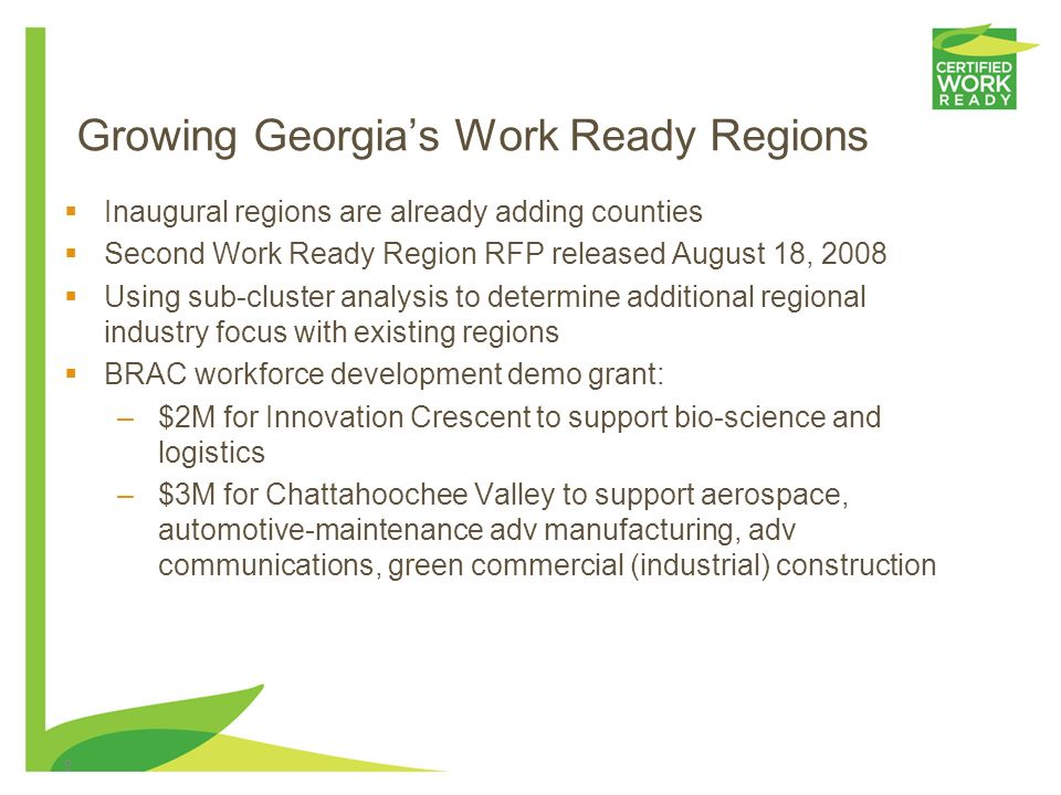 Region Analysis Innovation Crescent Region The Innovation Crescent Region is bordered by the Fulton and Clarke economic centers, and contains 13 count