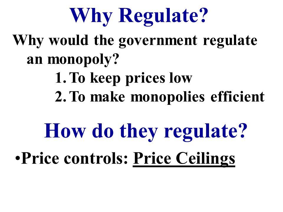 Regulating Monopolies