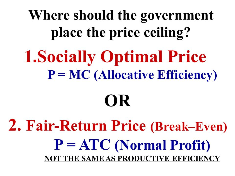 How do they regulate? Price controls: Price Ceilings Why Regulate? Why would the government regulate an monopoly? 1.To keep prices low 2.To make monop