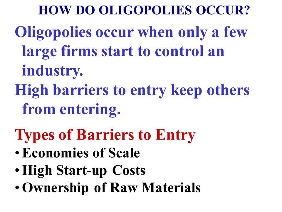 Market Structure Continuum Pure Competition Pure Monopoly Monopolistic Competition Oligopoly FOUR MARKET MODELS Oligopoly: A Few Large Producers Ident