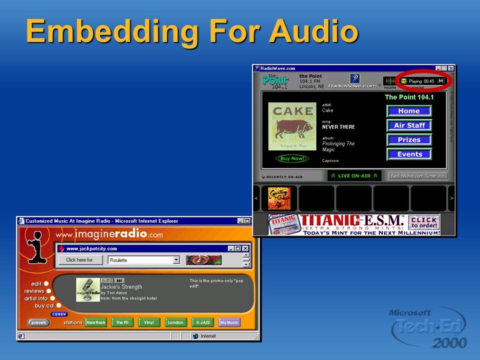 Embedding For Audio
