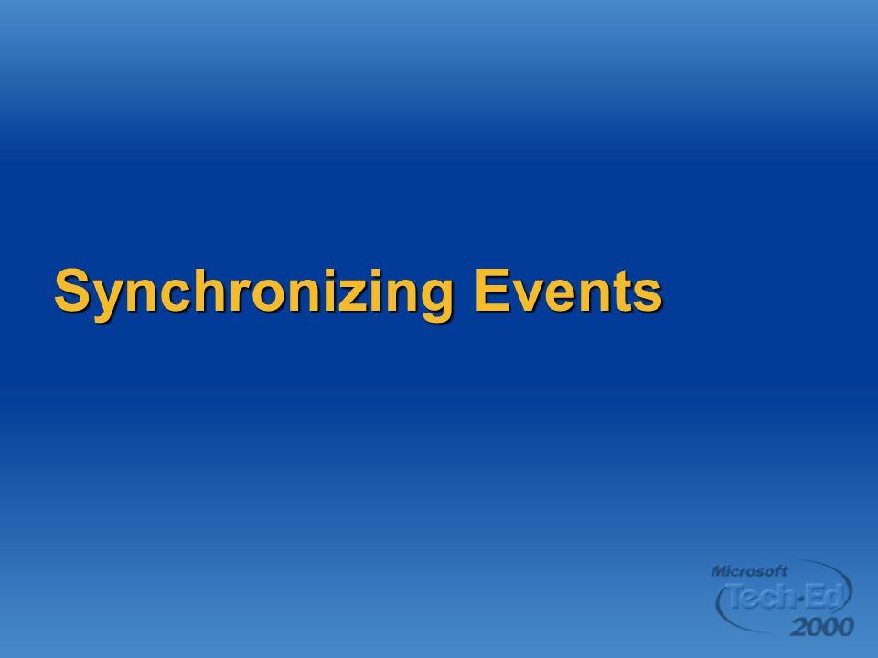 Synchronizing Events