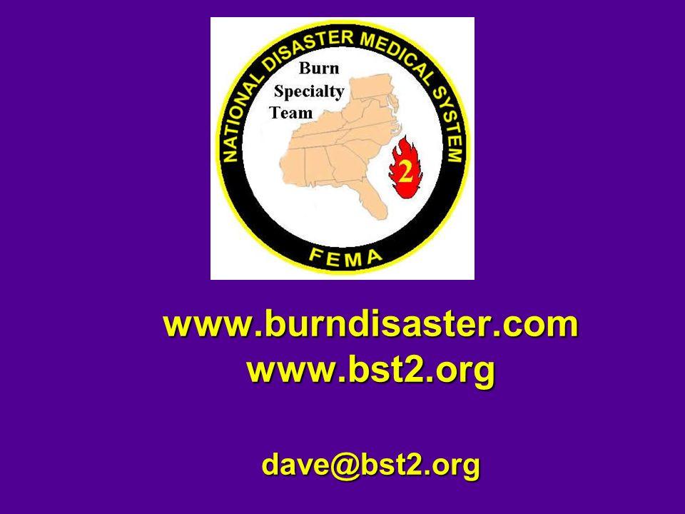 www.burndisaster.com www.bst2.org dave@bst2.org