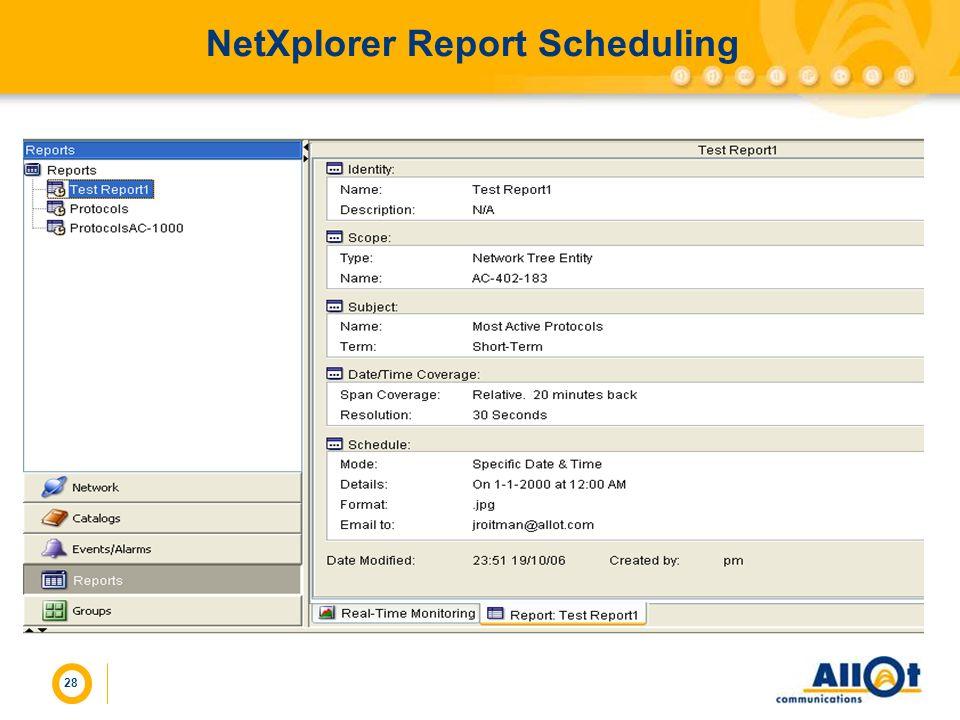 28 NetXplorer Report Scheduling