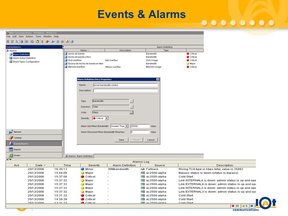 29 Events & Alarms