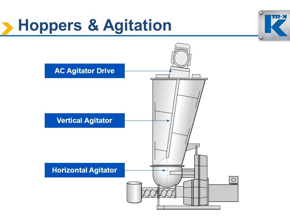 Hoppers & Agitation AC Agitator Drive Vertical Agitator Horizontal Agitator