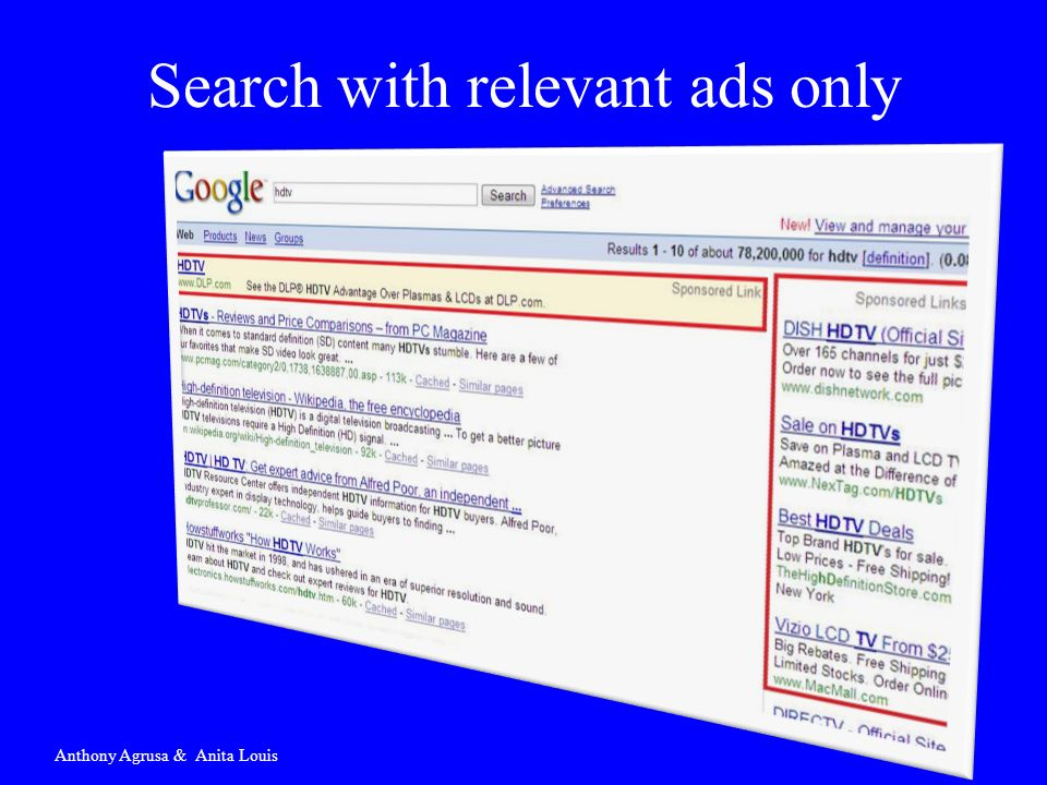 Search with relevant ads only Anthony Agrusa & Anita Louis