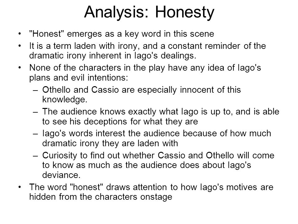 Analysis: Honesty