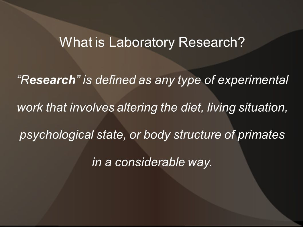 What is Laboratory Research.
