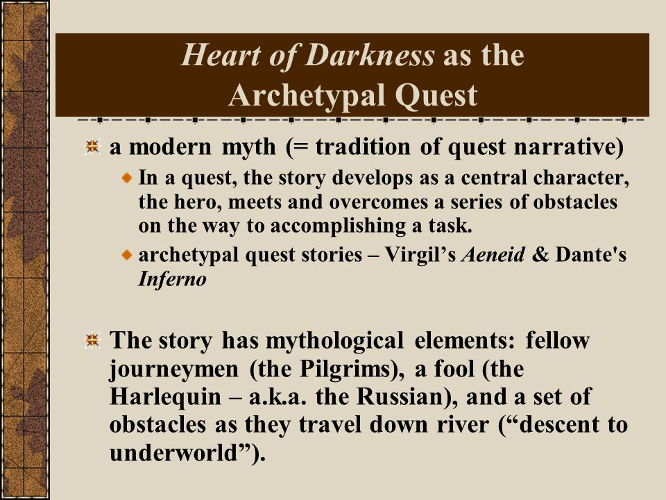 SHADOW ARCHETYPE CONT. It is, by its name, dark, shadowy, unknown and potentially troubling. It embodies chaos and wildness of character. The shadow t