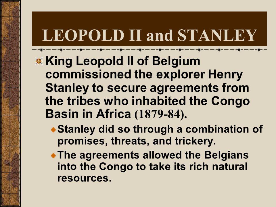 KING LEOPOLD II OF BELGIUM Ruled: 1865-1908