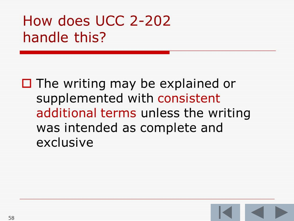 How does UCC 2-202 handle this.