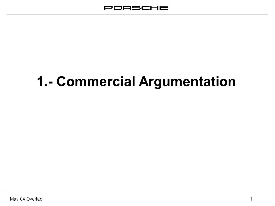 May 04 Overlap1 1.- Commercial Argumentation