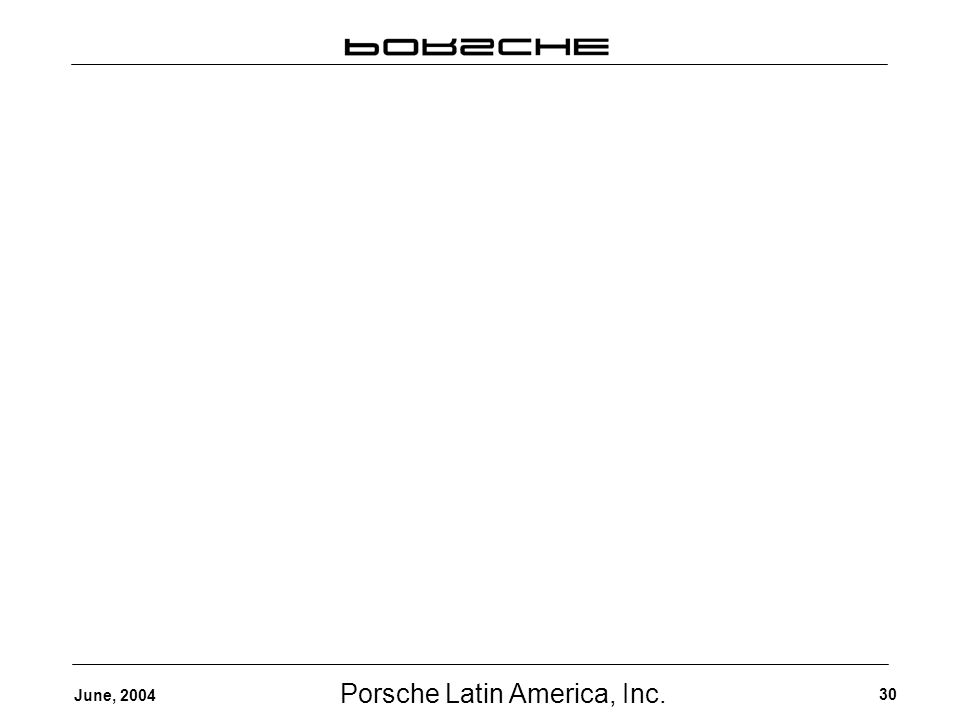 Porsche Latin America, Inc. 30 June, 2004