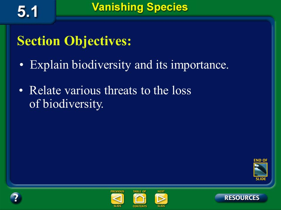 Chapter Intro-page 110 What Youll Learn You will explain the importance of biological diversity. You will distinguish environmental changes that may r