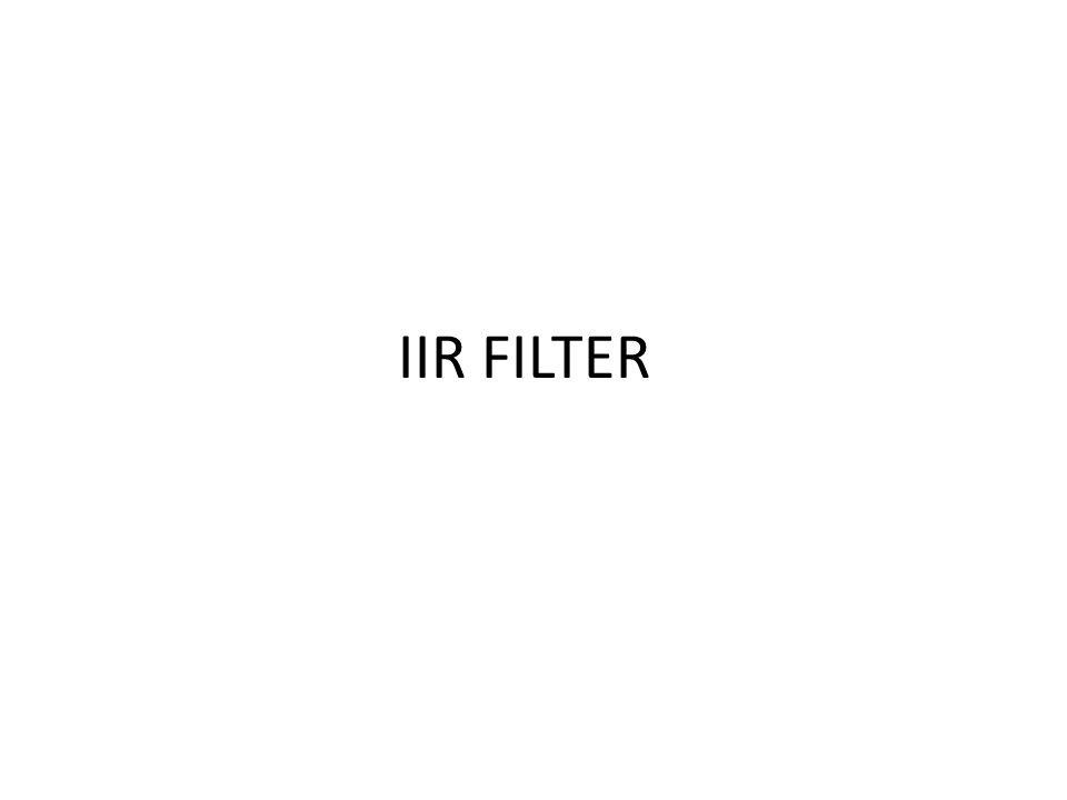 IIR FILTER
