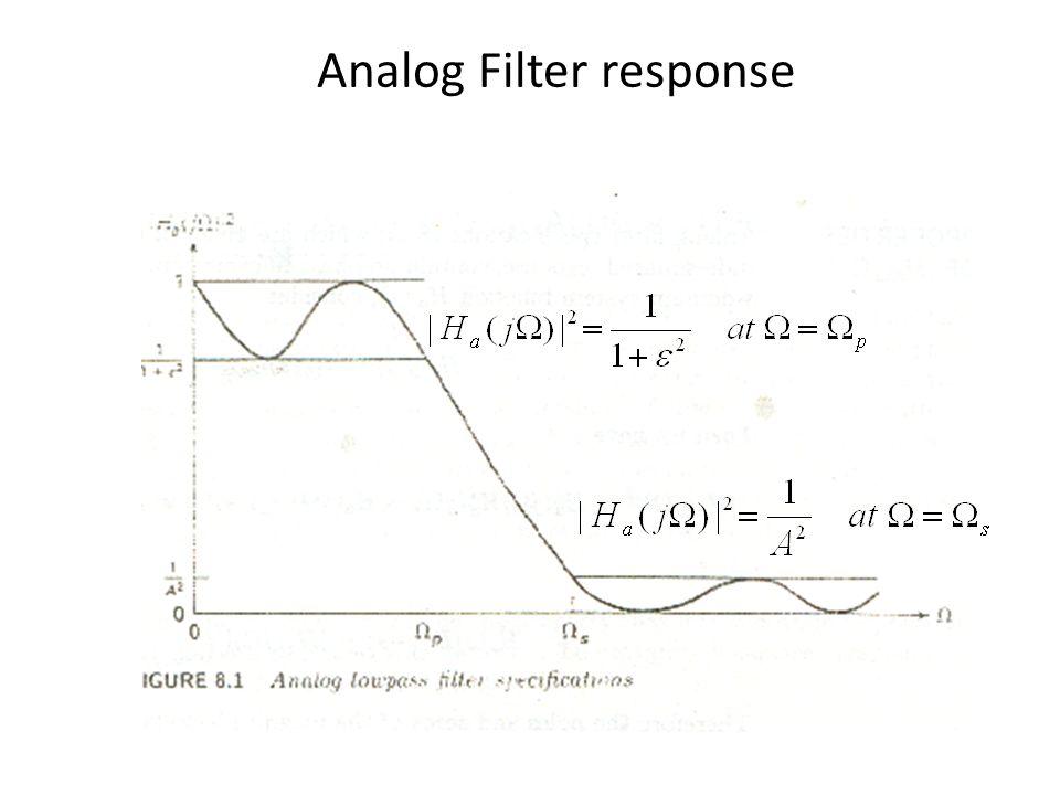 Analog Filter response