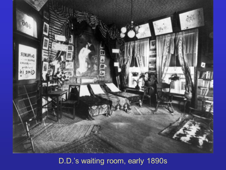 D.D.s waiting room, early 1890s