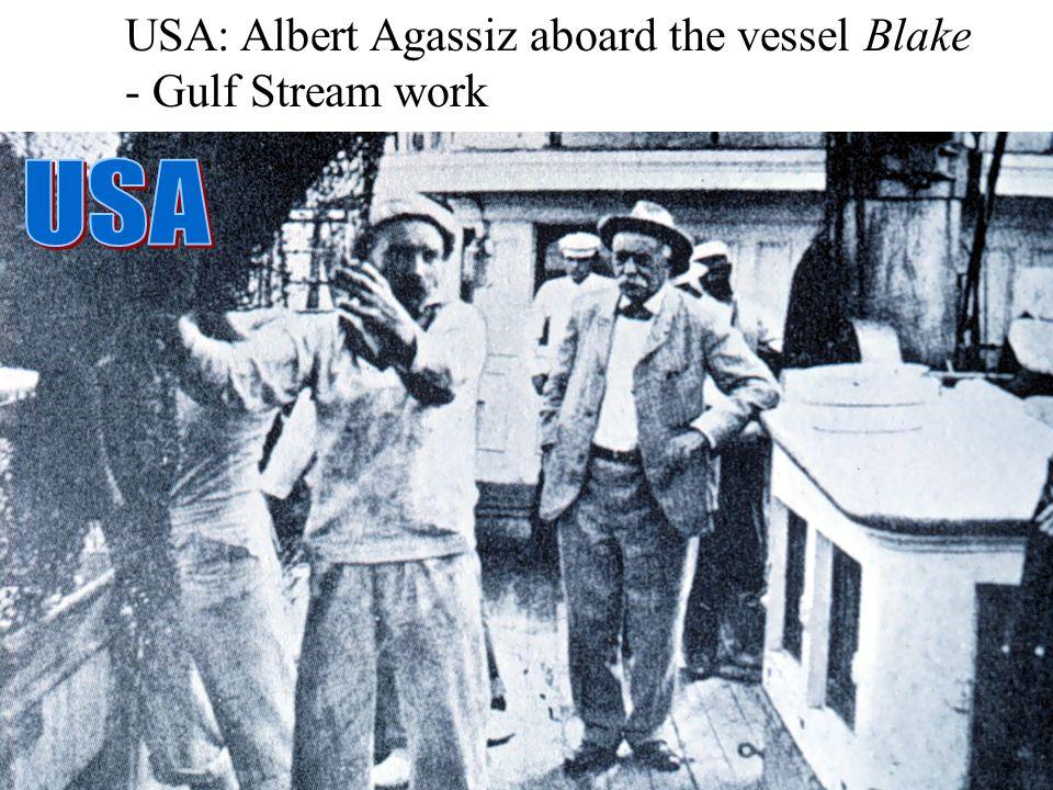 USA: Albert Agassiz aboard the vessel Blake - Gulf Stream work