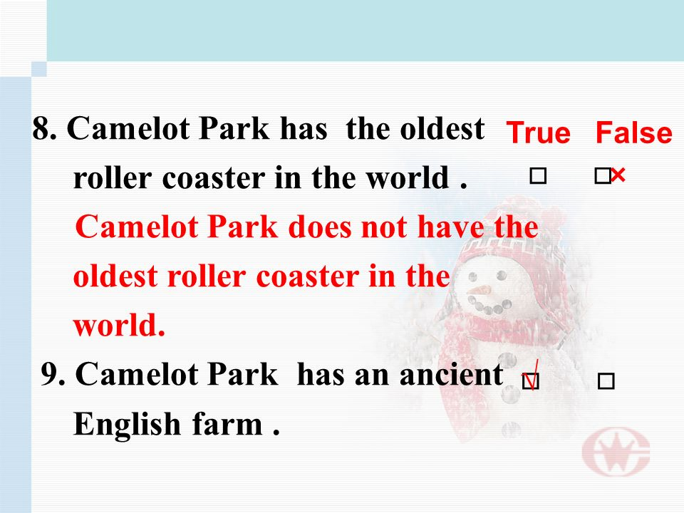 8. Camelot Park has the oldest roller coaster in the world.