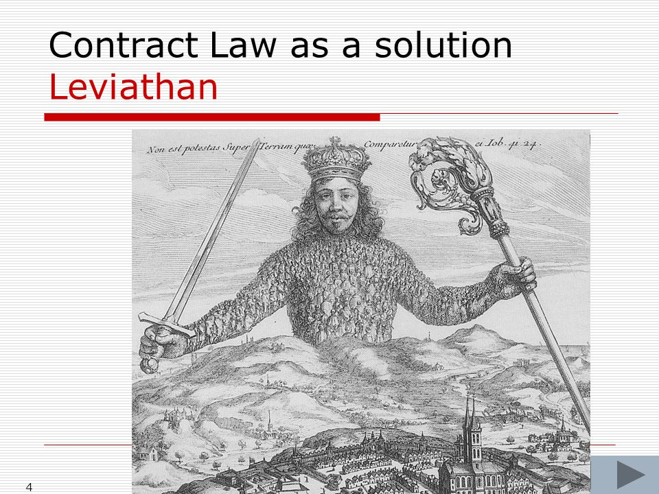 4 Contract Law as a solution Leviathan