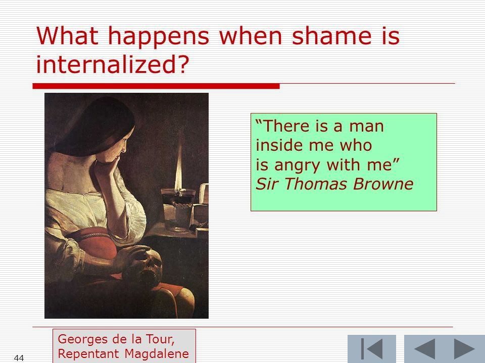 What happens when shame is internalized.