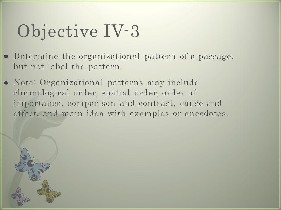 Objective IV-3