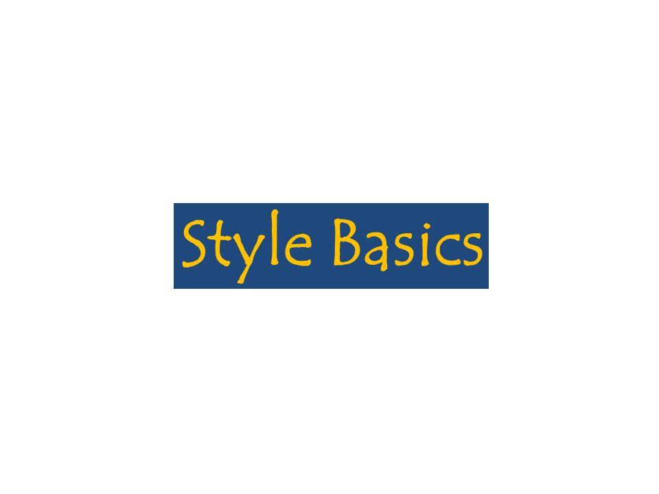 Style Basics