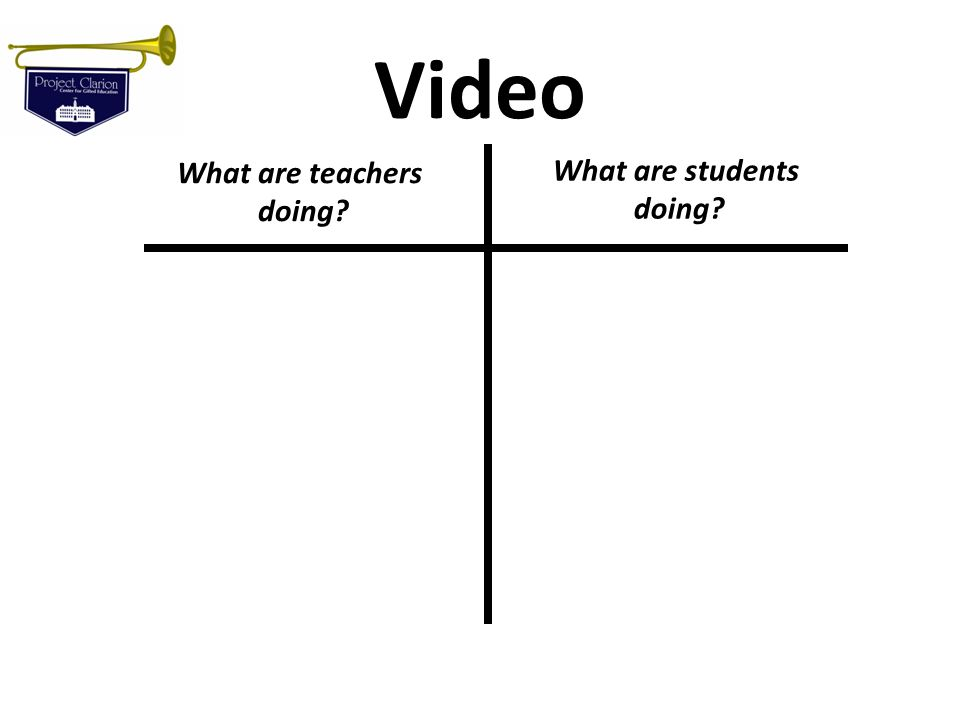 Video What are teachers doing? What are students doing?