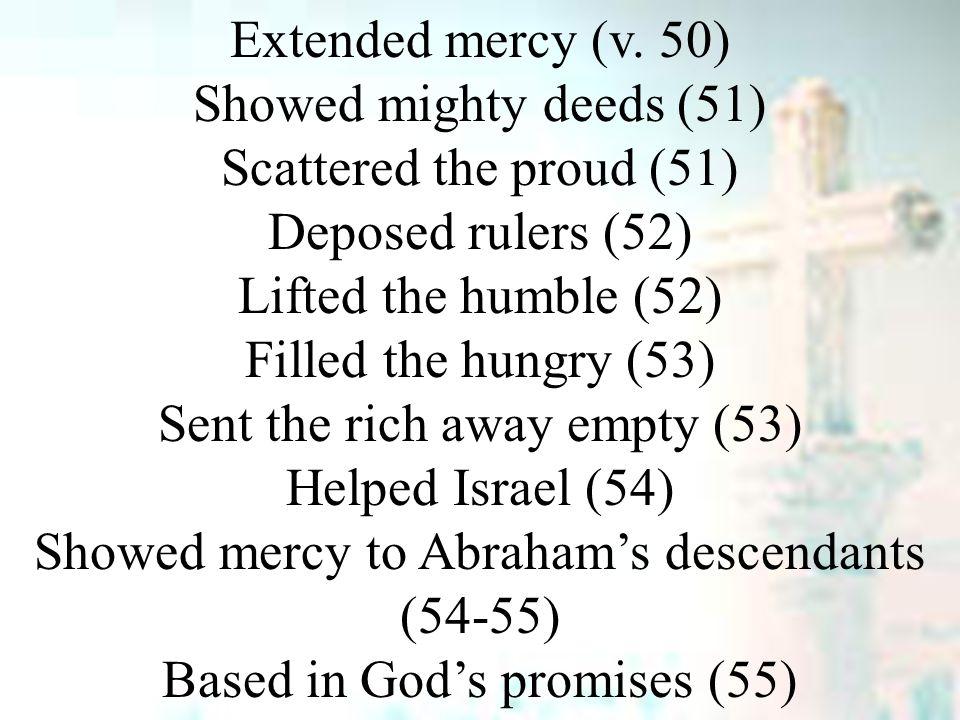 Extended mercy (v.