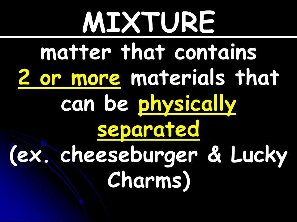 Elements Compounds