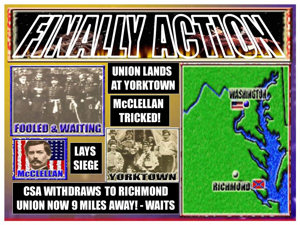UNION PLAN TO TAKE RICHMOND LINCOLN ASKS TO BORROW HIS ARMY McCLELLAN RELUCTANT LARGE UNION ARMY NEAR DC