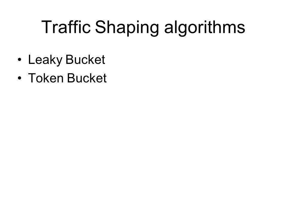 Traffic Shaping algorithms Leaky Bucket Token Bucket