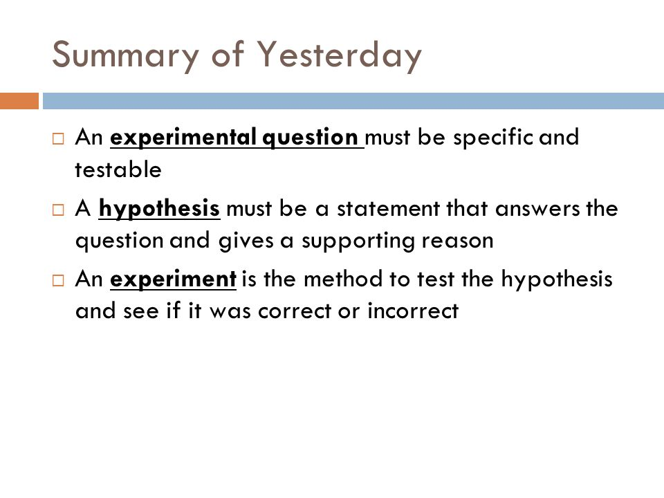 Yesterdays Exit Question You observe that students in Ms.