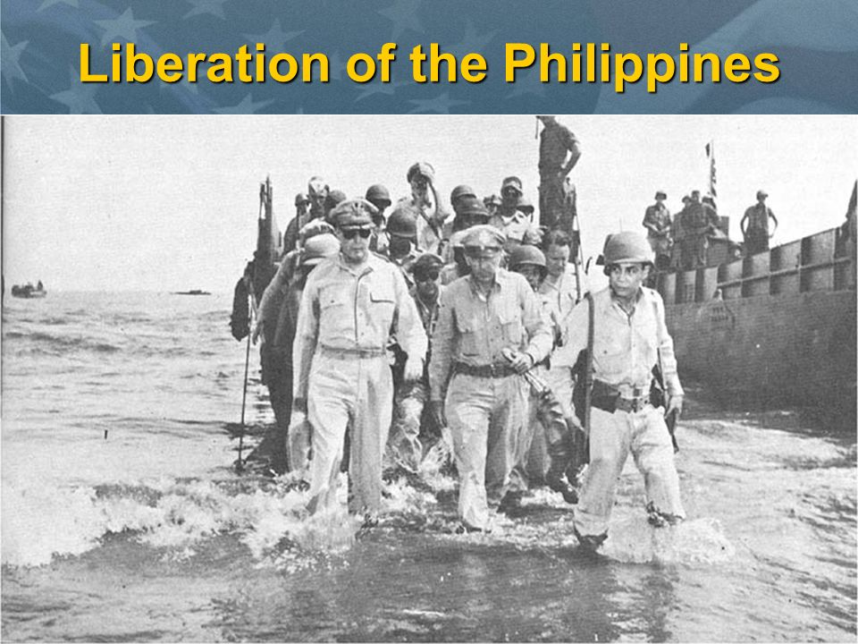 Liberation of the Philippines U.S. advance continues after Marianas CampaignU.S. advance continues after Marianas Campaign –Macarthur's forces capture