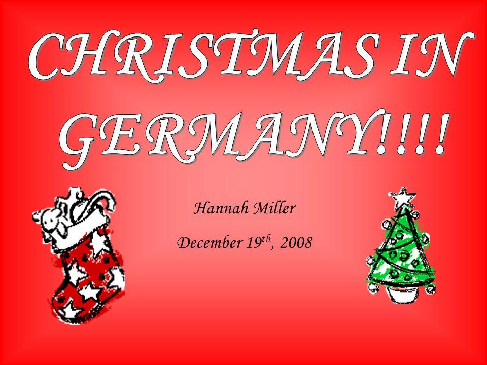 Hannah Miller December 19 th, 2008