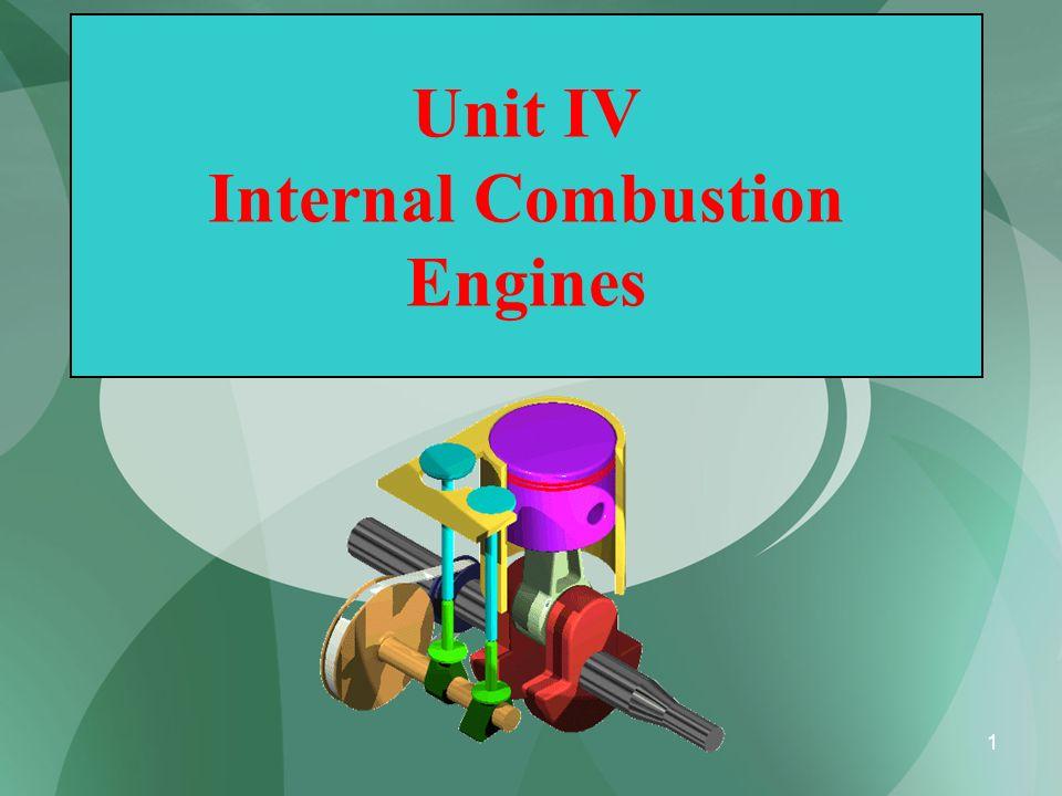 1 Unit IV Internal Combustion Engines