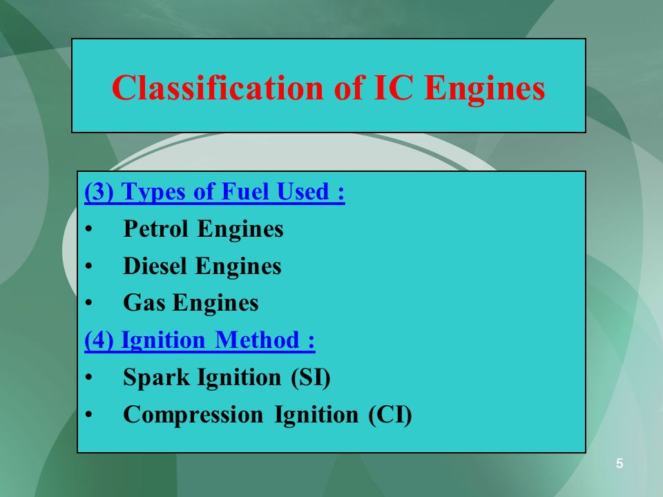 56 Comparison between SI and CI Engines (Merits and Demerits) S.No.Spark Ignition Engines (SI) Compression Ignition Engines (CI) 4Demerits: Thermal efficiency is less, since compression ratio is limited.
