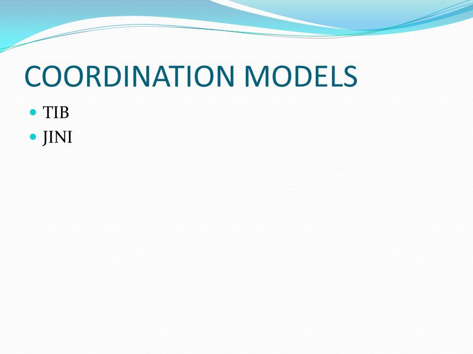 COORDINATION MODELS TIB JINI