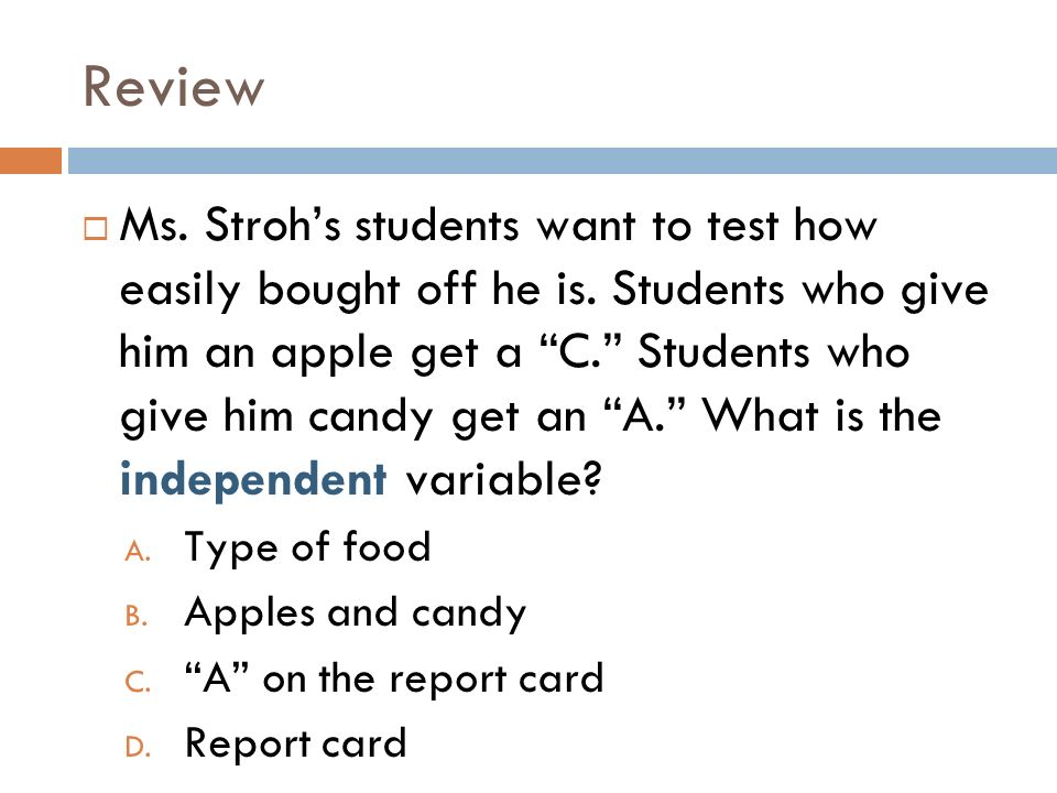 Review Ms. Strohs students want to test how easily bought off he is.