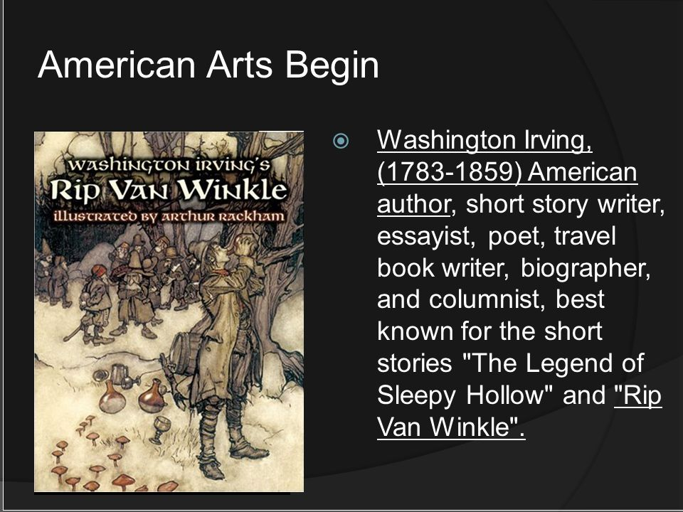 Washington Irving, (1783-1859) American author, short story writer, essayist, poet, travel book writer, biographer, and columnist, best known for the