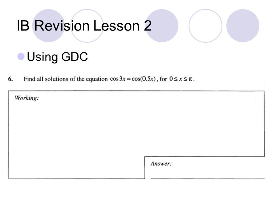 Using GDC